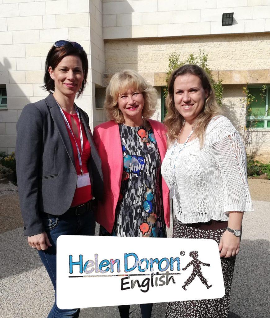 Baross Edit és Illenz Renáta a Szigetszentmiklósi Oktatóközpont vezetői Helen Doronnal